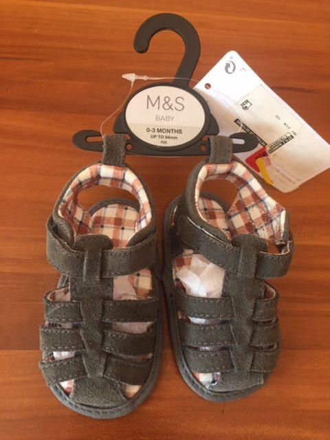 M&S Baby Boy Sandals (0 3 Months)