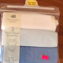 Primark 3 Short Sleeve Bodysuits (0-3 Months)