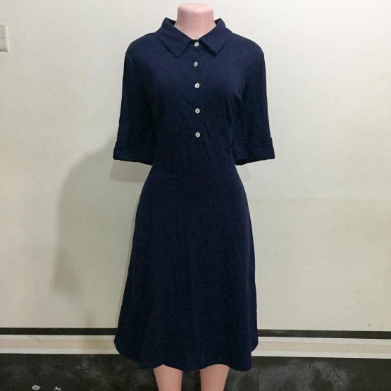 Navy Blue Shirt Dress (Size 16-18)