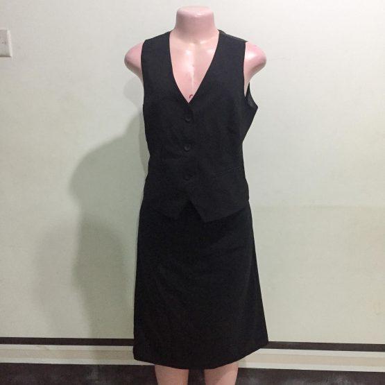 Black Two Piece Vest (Size 12)