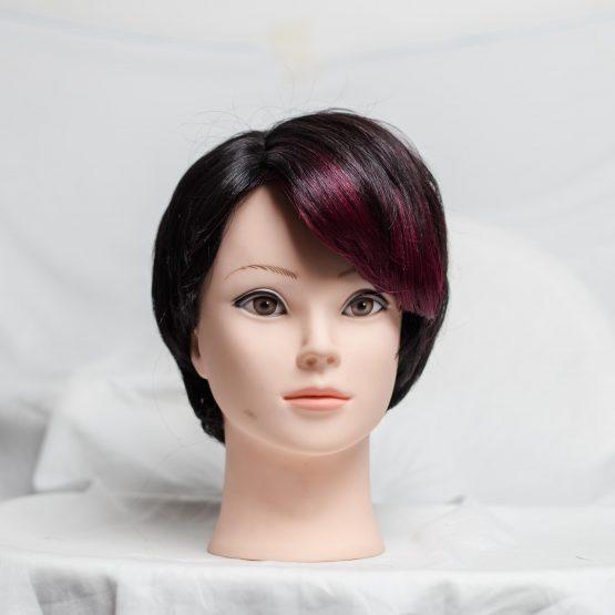 Wine & Black Short Cutting Wig